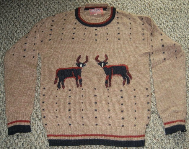 Faded Glory Reindeer Sweater by Michael Elkan