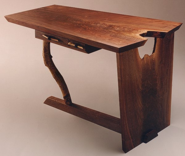 Beaver's Folly Desk in Walnut by Michael Elkan