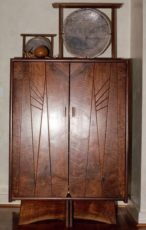 Cabinet with Doors of Seven Book Matched Pieces by Michael Elkan