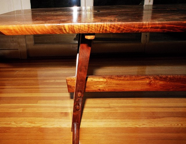 Below table view of Original Trestle Table by Michael Elkan
