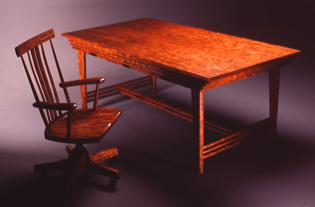 Slat Work Desk Set in Bubinga by Michael Elkan