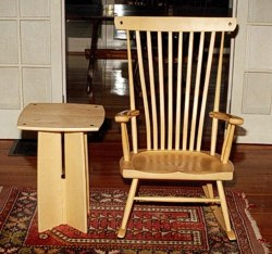 The Hollywood Set: Rocking Chair and Side Table by Michael Elkan