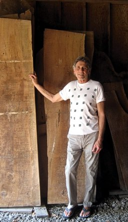 Michael Elkan with the makings of some beautiful wooden furniture -- click for more furniture